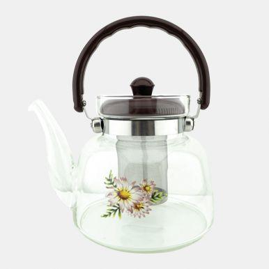 Чайник заварочный 1,4л 10х14,5х15см, стеклянная, артикул: PRJA8254-1