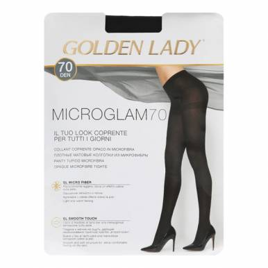 Колготки женские Golden Lady MICROGLAM 70 nero, 4/L