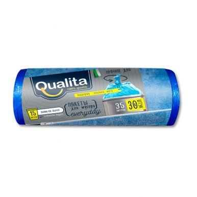 Qualita пакеты для мусора 35л, 30 шт