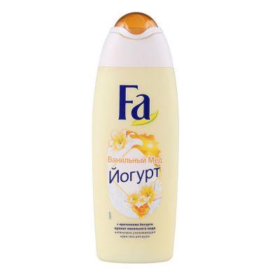 Fa Гель для душа Йогурт, аромат ванильного мёда, ухаживающий, бережный уход, 250 мл