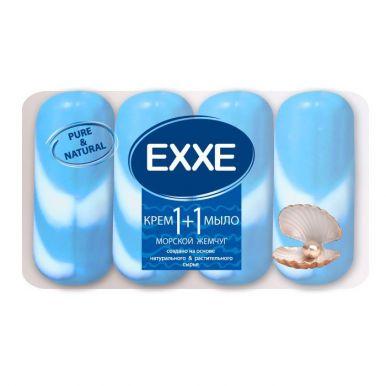 EXXE Туалетное крем-мыло 1+1 Морской жемчуг 4шт*90г СИНЕЕ