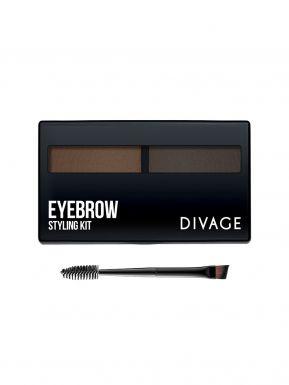 Divage Набор для моделирования формы бровей `eyebrow styling kit` №02