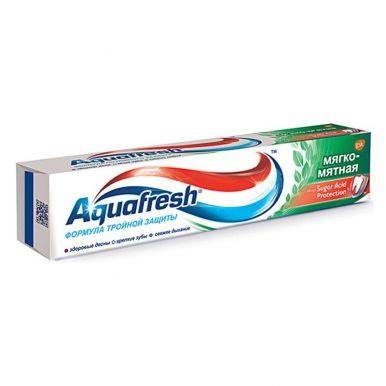 AQUAFRESH з/паста Total Care мягко-мятная 100мл зеленая