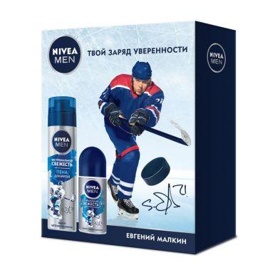 """NIVEA Подарочный набор мужской """"Экстремальная свежесть"""" - Дезодорант-антиперспирант шариковый  +  Пе"""