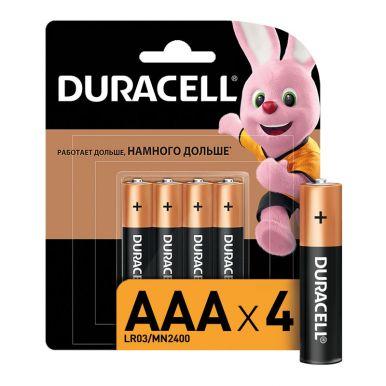 Duracell элемент питания AAA Mn2400 b4, 4 шт