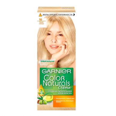 Garnier стойкая питательная крем-краска для волос Color Naturals, тон 10, Белое солнце, 110 мл