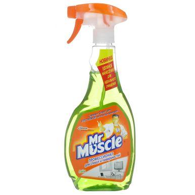 МИСТЕР МУСКУЛ для мытья стекол 500мл курок Лайм__
