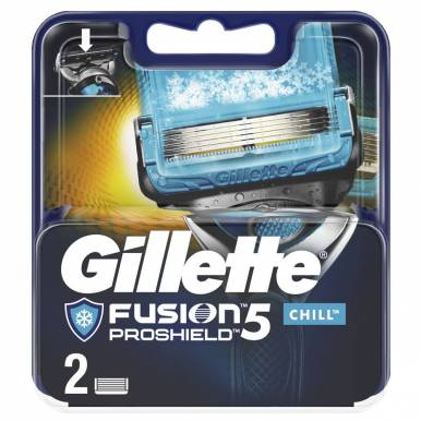 GILLETTE кассеты Fusion ProShield Chill 2шт