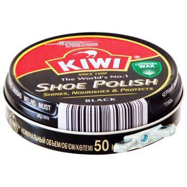 33675 KIWI Крем д/обуви в банке 50мл Черный