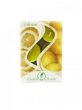 Набор чайных свечей ароматизированных, 6 шт, Лимон, артикул: 001803