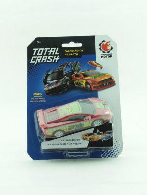 Машина TotalCrash, инерц.мех-зм, при столкновении разлетается на части, красн.870563