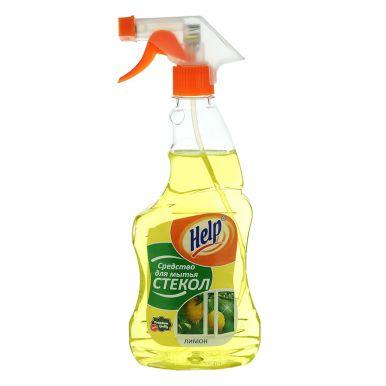HELP средство для мытья стекол курок 500г Лимон