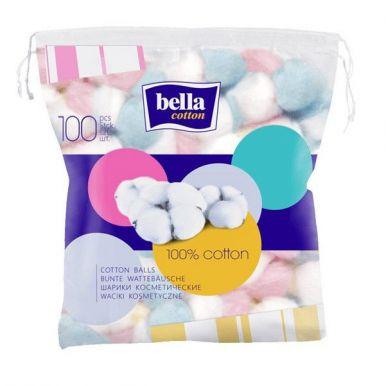 BELLA ватные шарики 100шт цветные  BC-083-C100-005_