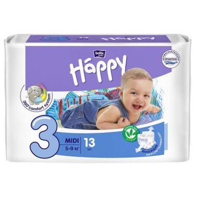 Bella подгузники для детей Baby Happy, Midi 5-9 кг, 13 шт
