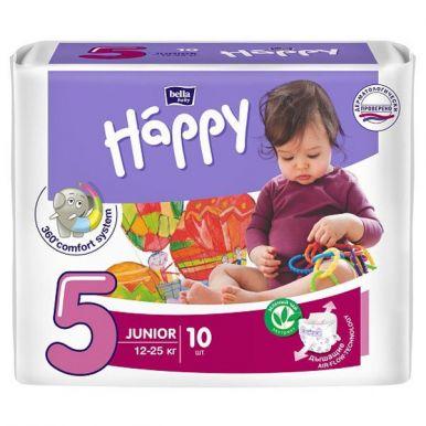 Bella подгузники для детей Baby Happy, Junior 12-25 кг, 10 шт