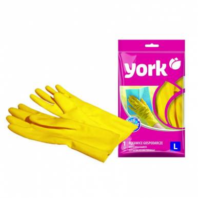 Перчатки резиновые с х/б напылением р-р L YORK_
