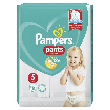 PAMPERS Подгузники-трусики Junior 15шт (12-18 кг) Микро Упаковка