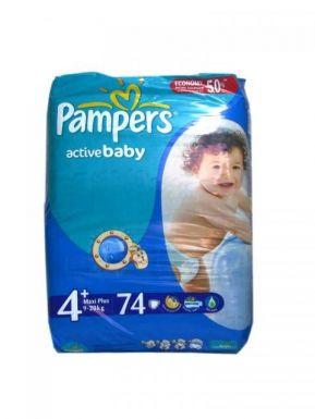 PAMPERS подгузники ACTIV BABY MAXI PLUS (9-16кг) Джайнт упаковка 74