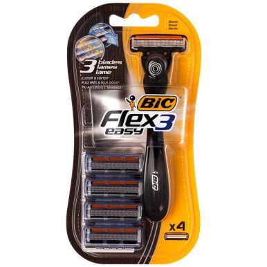 Bic бритва мухская Flex 3 Hybrid, с 4 сменными кассетами