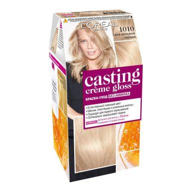 Casting Crem Gloss стойкая краска-уход для волос, тон 1010, цвет: светлый-светлый пепельный