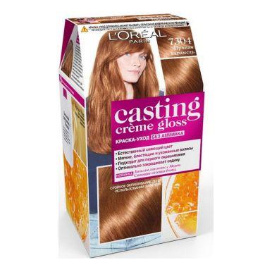 Casting Crem Gloss стойкая краска-уход для волос, тон 7304, цвет: пряная карамель