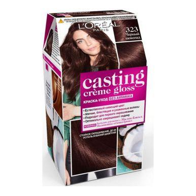 Casting Crem Gloss стойкая краска-уход для волос, тон 323, цвет: Черный шоколад
