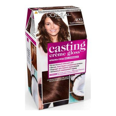 Casting Crem Gloss стойкая краска-уход для волос, тон 400, цвет: каштан