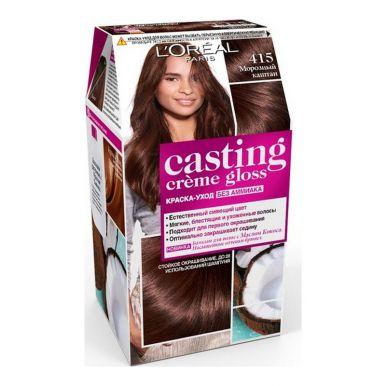 Casting Crem Gloss стойкая краска-уход для волос, тон 415, цвет: морозный каштан
