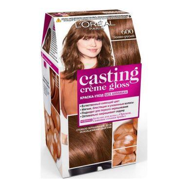 Casting Crem Gloss стойкая краска-уход для волос, тон 600, цвет: темно-русый