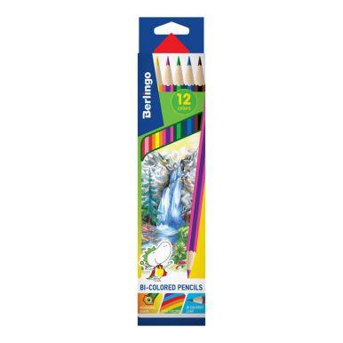 Berlingo карандаши с двухцветным грифелем Водопад, 6 шт, 12 цветов