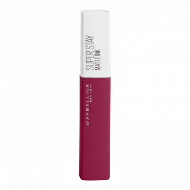 Maybelline помада для губ Matte Ink, стойкая, жидкая, матовая, тон 145, Лидер, Розовый, 5 мл,