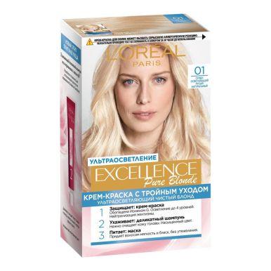 Excellence краска для волос, БЛОНД СЮПРЕМ, тон 01, цвет: сверх светло-русый натуральный