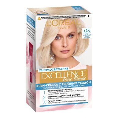 Excellence краска для волос, БЛОНД СЮПРЕМ, тон 03, цвет: сверх-светло-русый