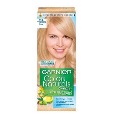 Garnier стойкая питательная крем-краска для волос Color Naturals, тон 113 песочный Блондин