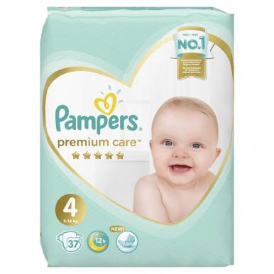 PAMPERS Подгузники Premium Care Maxi (9-14 кг) Экономичная Упаковка 37