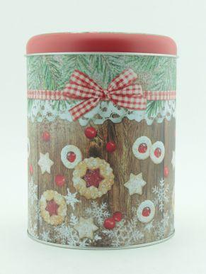 """Банка для хранения сыпучих продуктов дизайн """" рождество"""" разм. 135*135*170 ABW200010/1"""