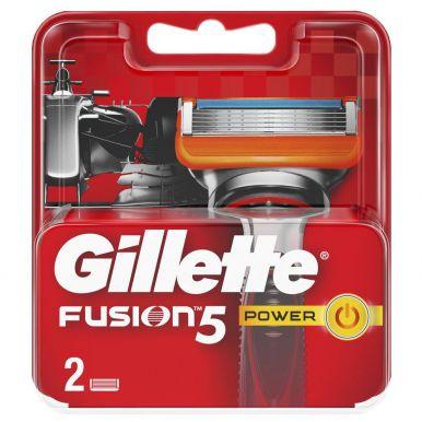 GILLETTE кассеты FUSION POWER 2шт (170/107/097)