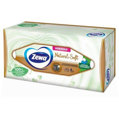 ZEWA NATURAL SOFT Салфетки Бумажные Косметические 4-слоя 80 шт.