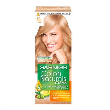 Garnier стойкая питательная крем-краска для волос Color Naturals, тон 9.1, Солнечный пляж, 110 мл
