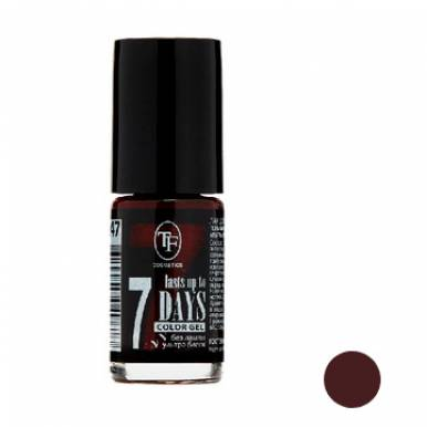 """TF Лак для ногтей COLOR GEL, тон 247 """"Noble burgundy/Благородный бордовый"""", 8мл"""