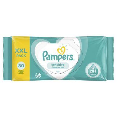 PAMPERS Детские влажные салфетки Sensitive 80 ПрепакКор