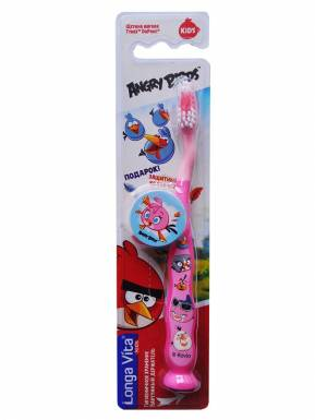 LONGA VITA FOR KIDS детская зуб.щётка, арт. АВ-1 Angry Birds от 5-и лет