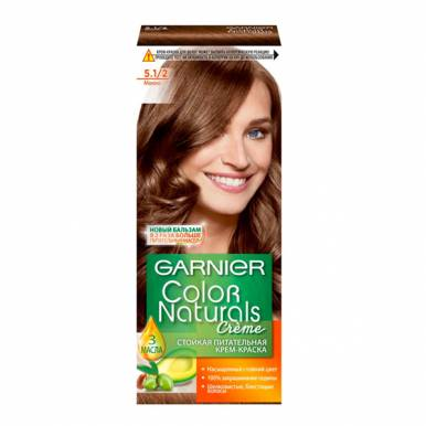 Garnier стойкая питательная крем-краска для волос Color Naturals, тон 5.1/2 мокко, 110 мл