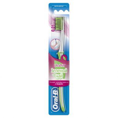 Oral-B зубная щетка UltraThin Зеленый чай, экстра мягкая жесткость