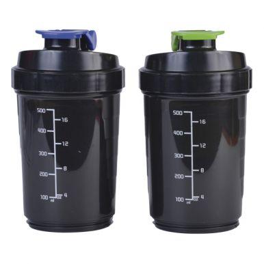 Бутылка для воды, 500 мл, спорт с шейкером, цвет: микс, артикул: 20119-0204