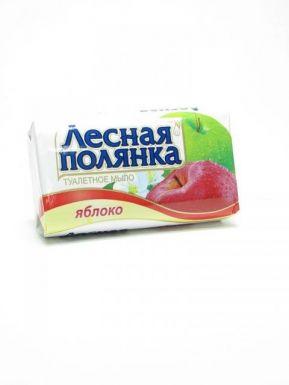 ЛЕСНАЯ ПОЛЯНКА туалетное мыло ЯБЛОКО 90г/1721
