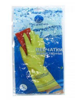 Русалочка перчатки хозяйственные, размер: L