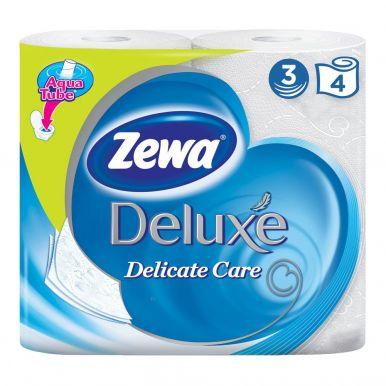 ZEWA DELUXE туалетная бумага 3-х слойная 4шт белая