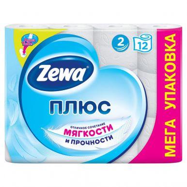 ZEWA ПЛЮС туалетная бумага 2сл. 12шт белая