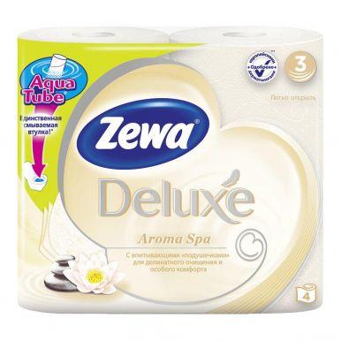 ZEWA DELUXE туалетная бумага 3-х слойная 4шт Aroma Spa